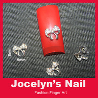 50pcs 3D Bow Alloy nail art decoration DIY Nail studs Material for Nails Professional nail art suppliers
