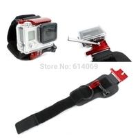 Gopro Accessories Aluminum Hero3+ Wrist Mount Clip Belt Strap + Go pro Hero 3+ Waterproof lock Mount acessorios Free shipping