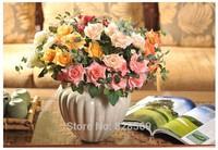 6pcs rose Artificial flower silk flower rustic decoration flower for wedding decoration home