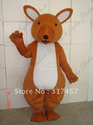 Australie kangourou taille adulte costume de mascotte livraison gratuite(China (Mainland))