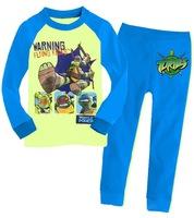 Retail Teenage Mutant Ninja Turtles boys children cartoon long sleeve clothing sets kid's clothing suits sct005