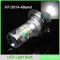 New arrival H7 3014 48SMD LED Fog Lights Head Lights Bulbs, 12V High Bright Car Light Source Fog Lamp White