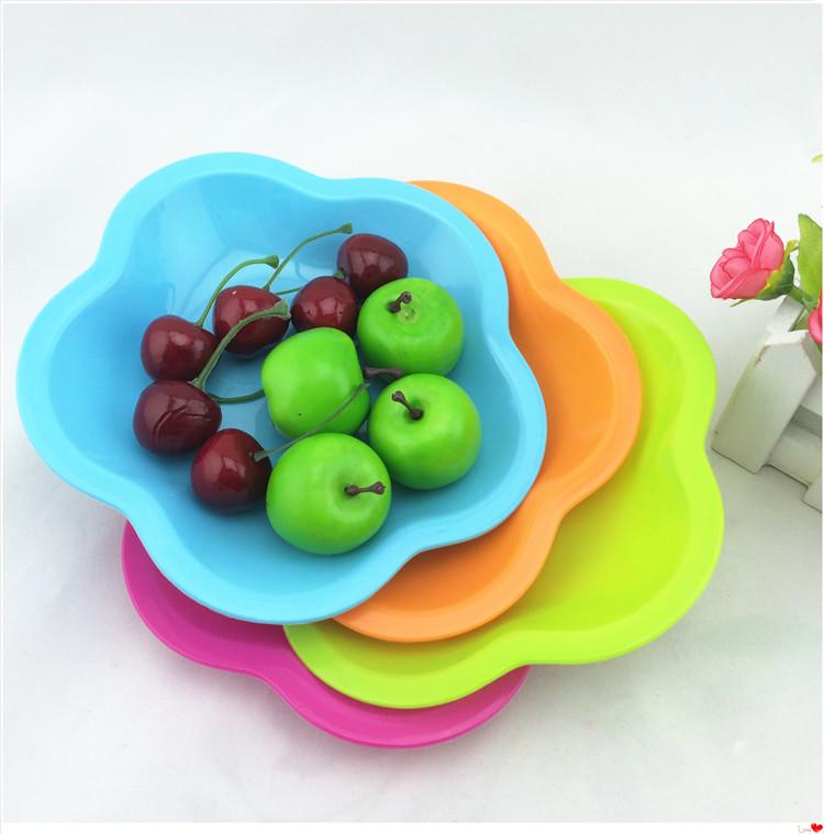 Plástico pp pequena placa multi-coloridas em prato lanche bandeja bandeja de doces placa óssea(China (Mainland))