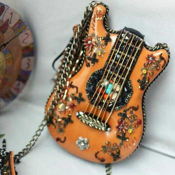 2015 стерео гитара сумка / скрипка сумка с кистями / ретро сумки / crossbody сумки для женщин Amliya национальный уникальный малый сумки на ремне