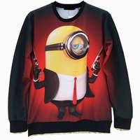 Despicable Me Minion Men's Crewnecks  3D Hoodies Sweatshirts  Long Sleeve Outerwear Pullovers
