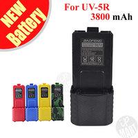 FS! Baofeng UV-5R Battery BL-5L Extended 3800mAh Battery 7.4V Li ion Battery for UV-5R BF-F8 Radio 5 colors option