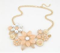 2014 New Statement Necklace Flower Choker Chain Rhinestone Retro Fashion Necklaces & Pendants Jewelry For Women