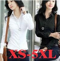 Women Casual Blouse Shirt S-3XL Plus Size Camisas Femininas Women Clothing Blusas White And Black Chiffon Shirt Tee Top