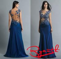 Vestido Social Event Dress Floor Length Long Evening Dress Prom 2015 New Arrival Formal Dresses Party The Night RBE024