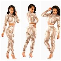 2015 Two Piece Jumpsuit Rompers Womens Jumpsuit  Print Midi Bodycon Jumpsuits, Ladies Patchwork Sexy Party Rompers Bodysuit