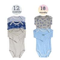 5PCS (3PCS 12M + 18PCS 6M) MeiSiLi Unisex Infant Baby Boy & Girls' O-Neck 100% Cotton Long Sleeve Bodysuit Toddlers Jumpsuits