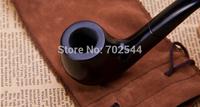 HOT NEW Mens Durable Wooden Pipe 9mm tobacco pipes tobacco filter element Doo  Black (1 pcs/lot)