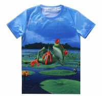 European and American men's summer new 3D printing short-sleeved t-shirt Txu118 dx145 personality men round neck