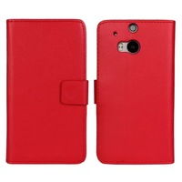New PU Wallet Leather Flip Cover Case For HTC One M8 with stand and card slot Cover with stand and card slot Book style