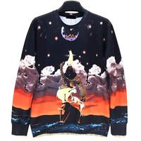 To Reach The Moon Animal Print Men's Crewnecks  3D Hoodies Sweatshirts  Long Sleeve Outerwear Pullovers