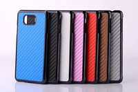 7 color Luxury Leather Carbon fiber pattern Hard Protector Case for Samsung Galaxy Alpha G850