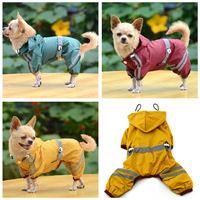 Pet dog raincoat, PVC single with decorative, stylish reflective safety raincoat, fashion dog clothes, pet products