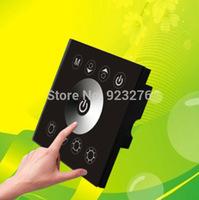 Free shipping  Black 24V LED Touch Panel Controller DC 12-24V Wireless Dimmer for 5050 3528 2835 single led strip