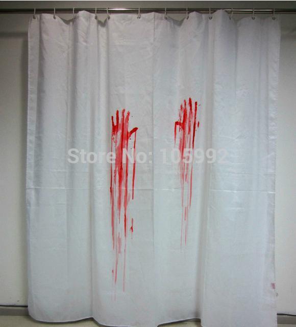 Acheter 2015 Nouveau Rideau De Douche Blood Bath Rideau De Douche Salle De Bain