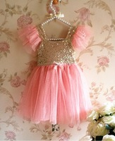 5pieces/lot, Summer Girls high quality Sequined Dress, Kids Party Dress,, A-fys267