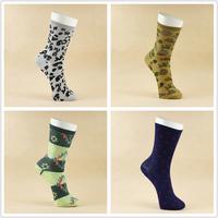 Free Shipping 2015 Men' Socks Double 10 Autumn And Winter Plus Size Flower Socks Camouflage Dot bBelt Elastic Sports Socks