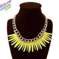 Luxury Fashion Vintage choker statement chain pendant necklaces for women 2015 HIgh quality elegant bib collar necklaces 4527