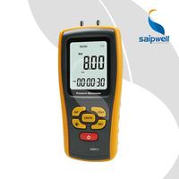 SPM511 LCD Display Pressure Manometer(Yellow)Air Pressure Gauge Meter Manometer Tester Tool