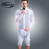 2015 New NENK Cycling Suits Rain Suits/ Rain Coat /Rain Pants Rain Shorts Windproof Rainproof White