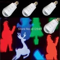 2015 New patterns,mini Christmas party tree sauta Bulb RGBW stage lighting with E27 base 1pcs/lot