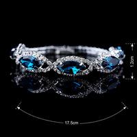 Teardrop white bracelet,2015 fashion silver plated rhinestone bracelet,waterdrop red bracelet, red crystal bracelet