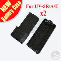 FREE SHIPPING! 3800mAh AA Extended Battery Case For Baofeng UV-5R 5RA UV-5RE Plus TYT TH-F8 Radio (Need 6*AA Battery) 2pcs/lot
