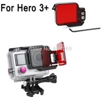 Acessorios Aluminum Frame Polarizer underwater diving Correction UV lens filter  For GoPro Camera Hero 3+ 4 Go Pro Accessories