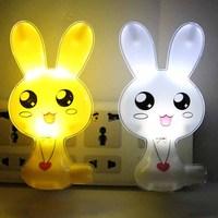 lovable rabbit light-operated Light control night light ofhead teethe eye-lantern gift led lighting