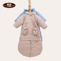 Baby sleeping bag multifunctional winter windproof and warm sleepsacks cotton-padded jacket