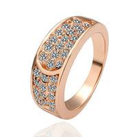 Free Shipping New Fashion Luxury Women Wedding Jewelry 18k Gold White Crystal Gem Zircon Finger Circle Rings Female Gifts 18R047