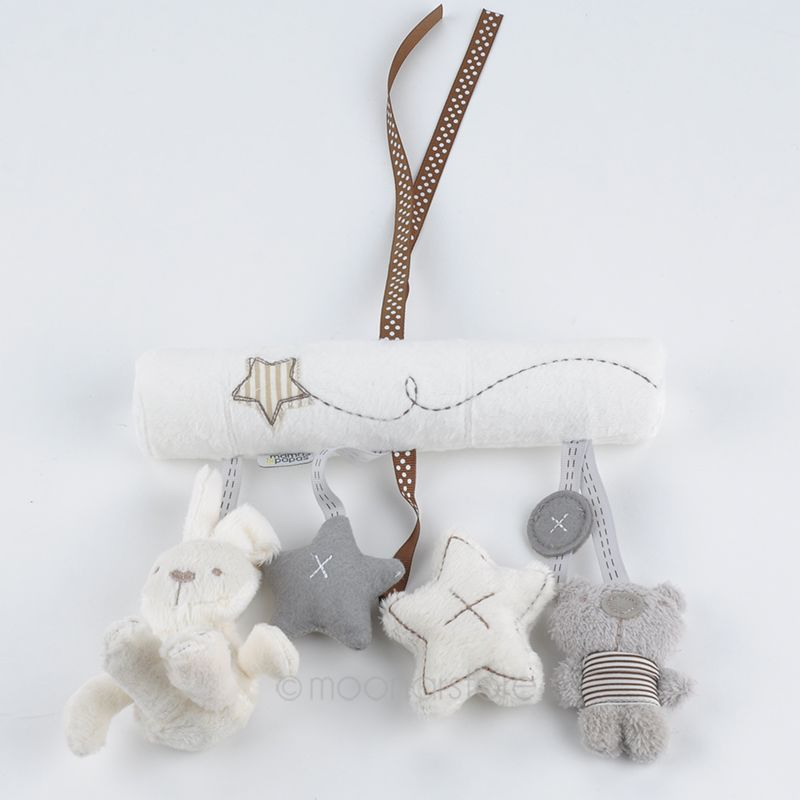 arrival mamas&papas cot hanging toy baby rattle toy soft plush rabbit musical mobile products baby Xmas gift zx*MHM779#C9(China (Mainland))