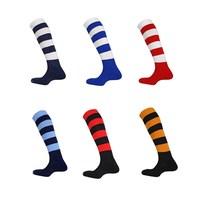 Quality Ball Socks Towel Professional High Wear-resistant Thickening Long Horizontal Stripe Football Socks 30 - 35 Wholesale