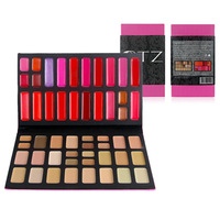 New Arrived 52 Colors Makeup Combination Set 29 Colors Face Concealer + 23 Colors Lip Gloss Palette Cosmetics Kit Free Shipping
