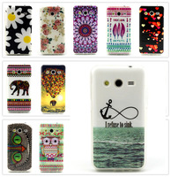 Beautiful Anchor Owl Elephant, etc. Pattern TPU Back Cover Case for Samsung Galaxy Core II G355 G355H G3559 G3556D 15 Styles