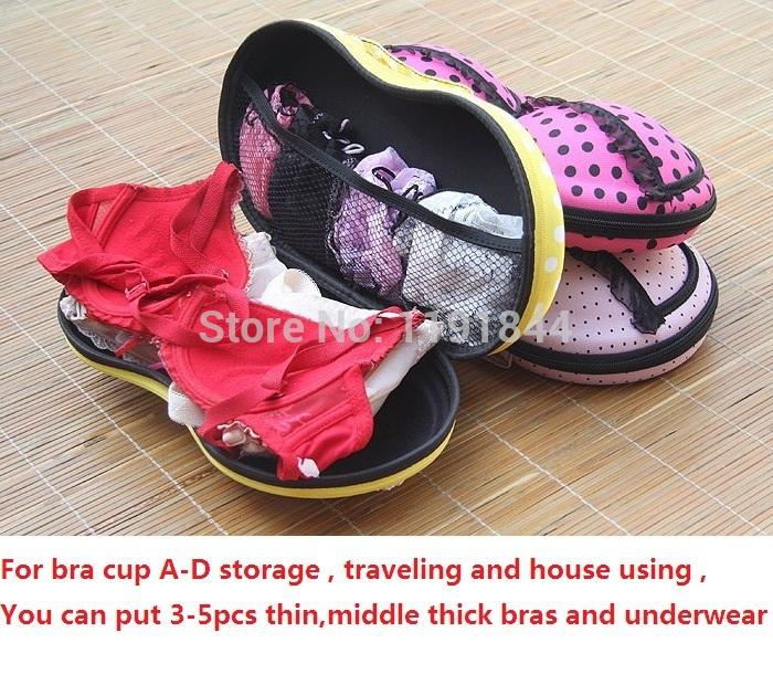 2014 New Portable Travel house using Bra Bag Sexy Lingerie Panties Socks Protect Storage Case Bra Underwear Organizer box case(China (Mainland))