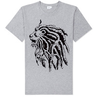 bob marley africa lion rastalocks long braids fashion tee shirt