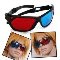 3D Vision Glasses Red Blue Plastic Dimensional Anaglyph Framed Plasma TV Movie