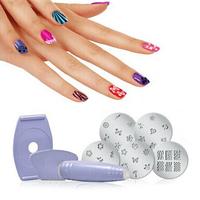5pcs Salon Express Pro Nail Art Stamping Stamp Tools Image Plates Set Manicure Kit Stencil Tool DIY Designs Free Shipping