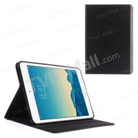 Free shipping 1pc/tvc-mall Brushed Surface Smart Leather Stand Cover w/ Card Holder for iPad mini / mini 2 / mini 3