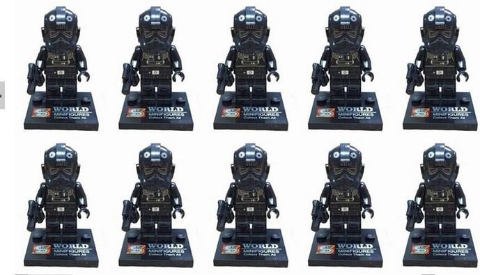 20pcs/lot Star Wars Microfighter TIE Interceptor Fighter Pilot mini action figure minifigure building brick toys(China (Mainland))