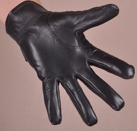 Men's leather gloves Warm winter plus velvet glove Quality suede driving Leather gloves