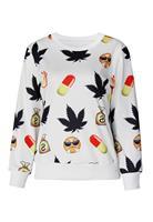 New Printed Sweatshirt Hoodies Emoji Women Pullover Women In Emoji Print Jogging Sweatshirt LC25351 Casual Suit Track Suits