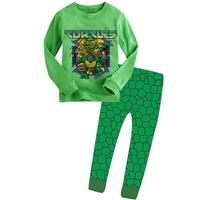 Retail Teenage Mutant Ninja Turtles boys children cartoon long sleeve clothing sets kid's clothing suits sct008