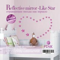Listed in Stock 19pcs/lot Shiny Stars Mirror Wall Sticker Shiny Luxury Bedroom Living Room Decor Kid's Room Decor Sofa MS361266