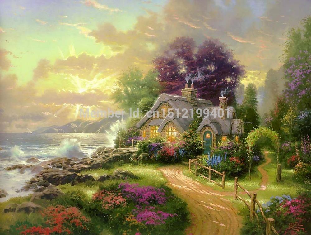 Kinkade Paintings Canvas Kinkade Painting Oil
